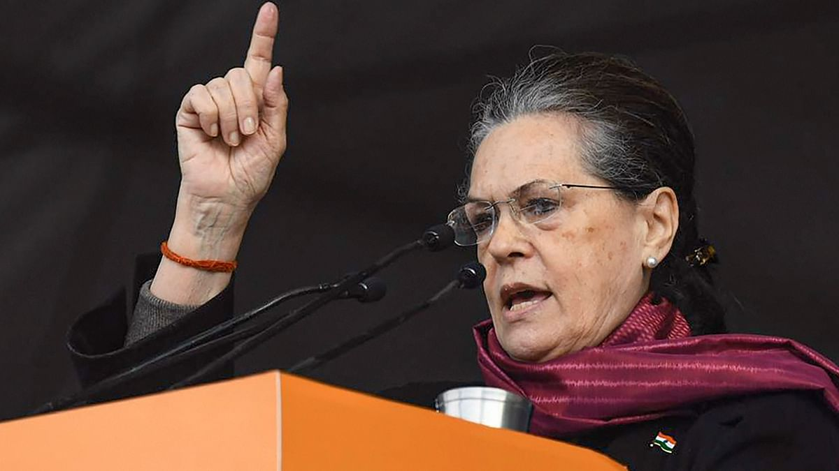 File image of interim Congress president Sonia Gandhi.