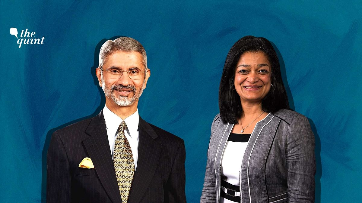 Image of MEA S Jaishankar & US Congresswoman Pramila Jayapal used for representational purposes.