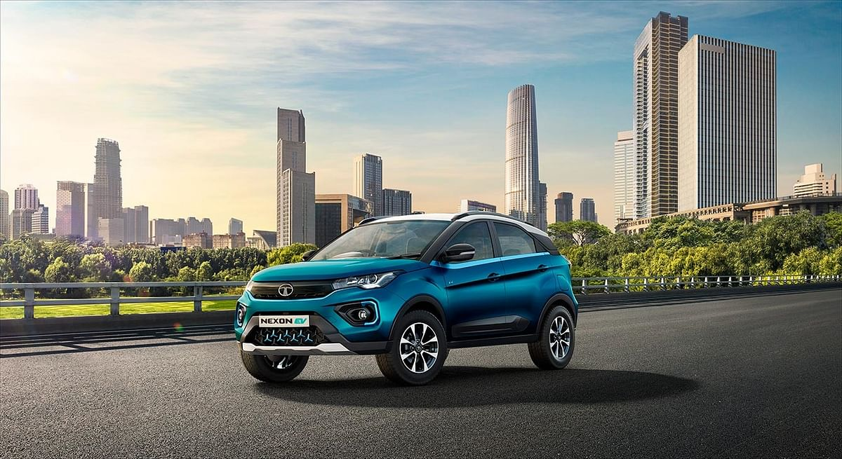 The Tata Nexon EV has an updated front-end, making it different from the regular Nexon.