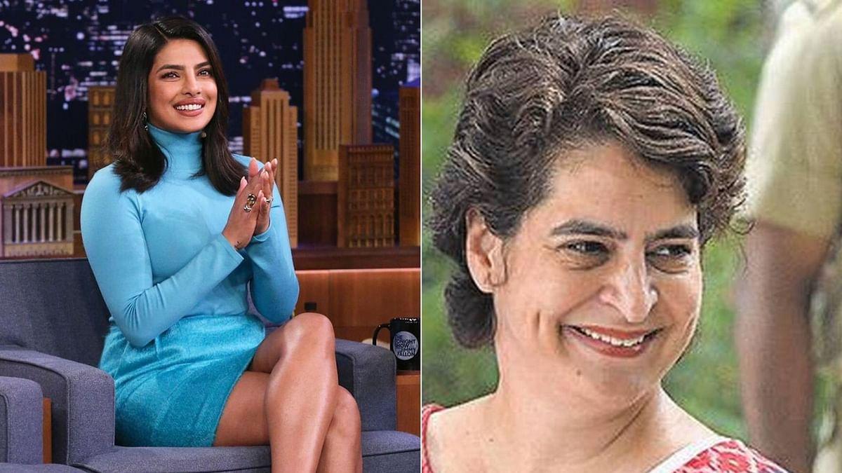 A Congress leader mistook Priyanka Gandhi for Priyanka Chopra.