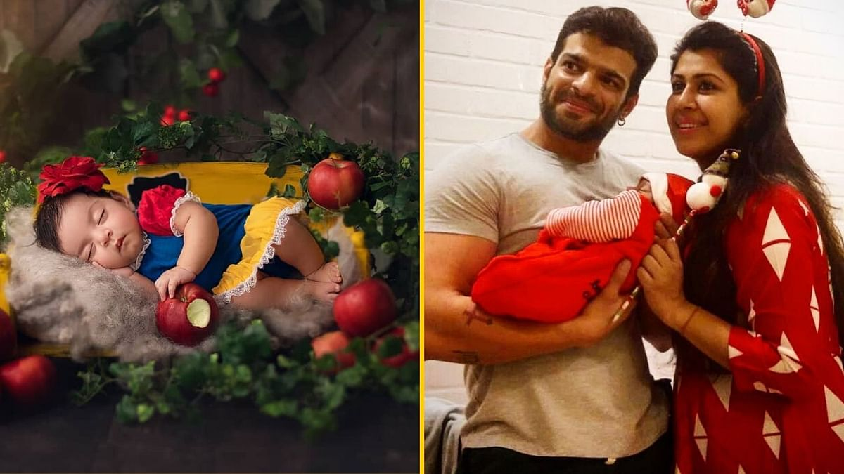 Jay Bhanushali and Karan Patel both shared first photos of their daughters on Christmas.
