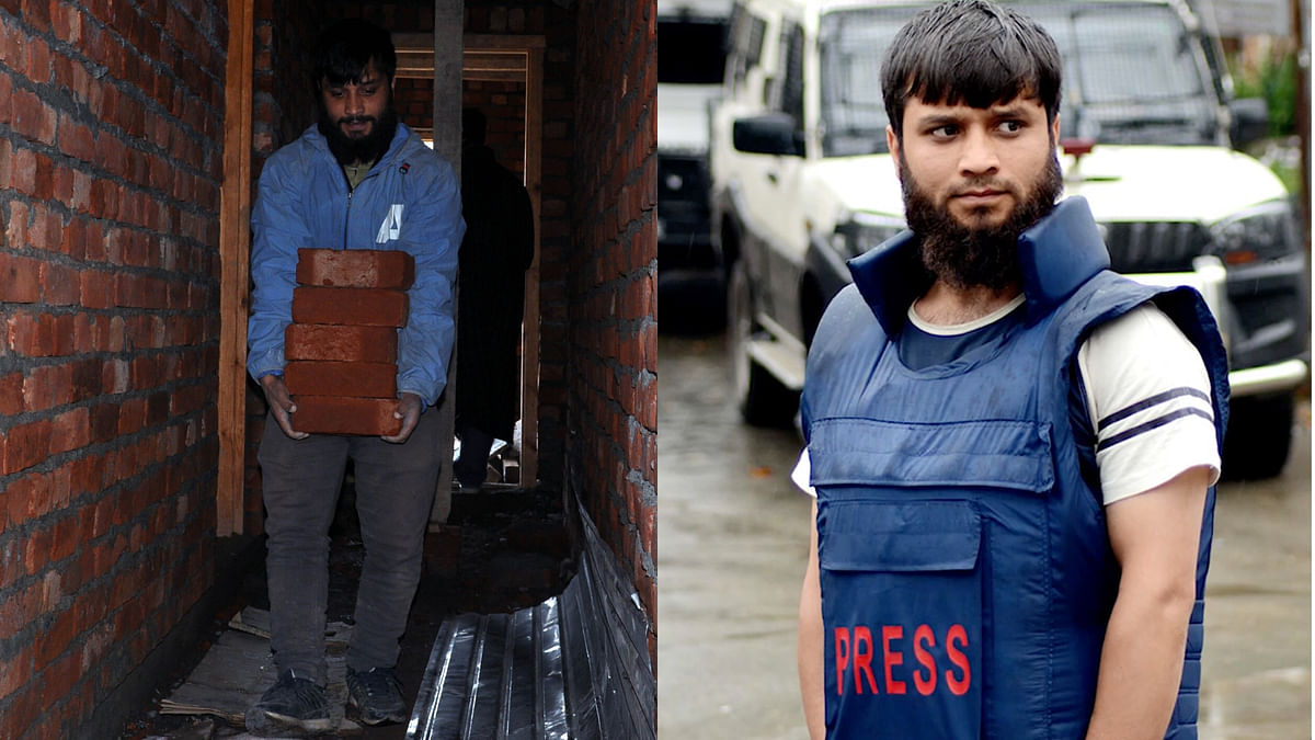 Muneeb-Ul-Islam, a freelance photo-journalist, was forced to work as a daily-wage labourer due to internet services suspension.