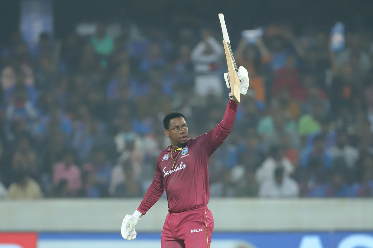 Hetmyer made 56 off 41 balls which was studded with two boundaries and four hits over the fence.