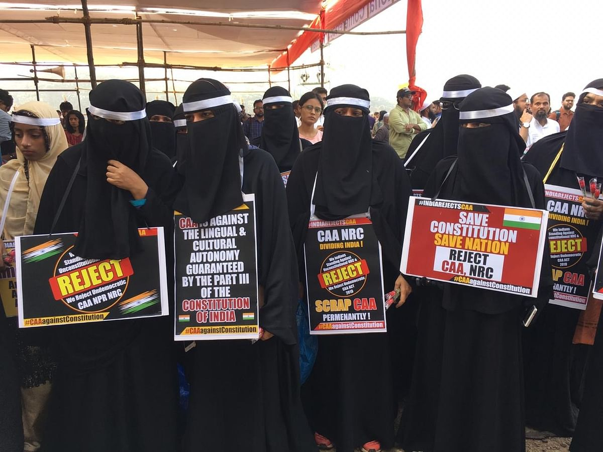 Women at the protest.