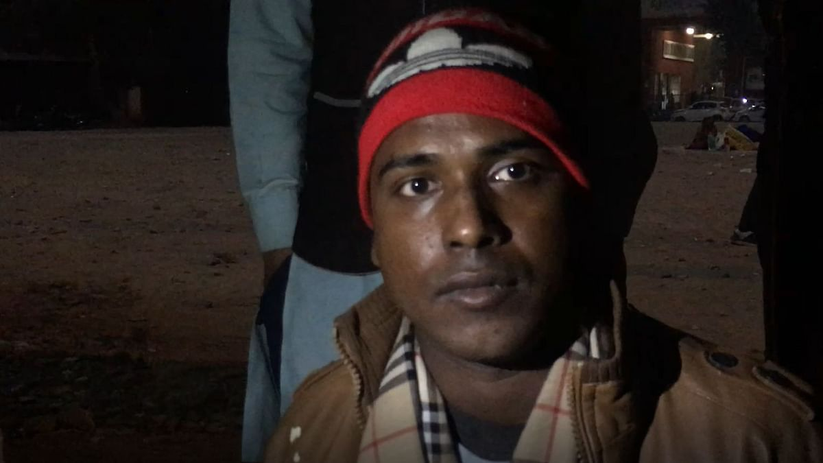 Mohd Rizwan, sitting outside the emergency ward of LNJP Hospital waiting for the concerned authorities to hand over the dead bodies of his two brothers.