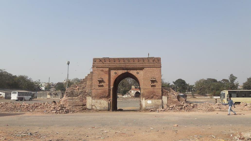 A 400-year-old Mughal era gate in Ahmedabad.