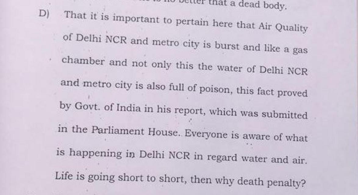 Snippet of Akshay Singh's review plea