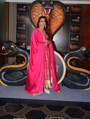 "Mumbai: Actress Nia Sharma at the launch of upcoming television serial ""Naagin Bhagya Ka Zehreela Khel"" in Mumbai, on Dec 9, 2019. (Photo: IANS)"