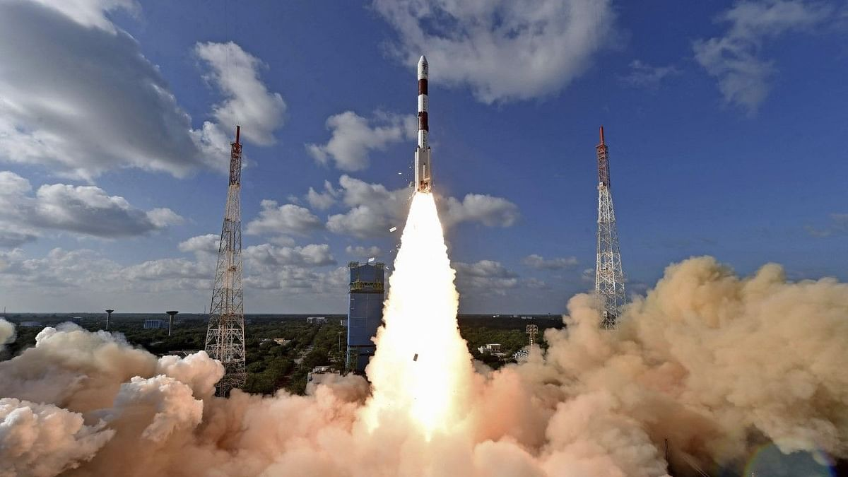 ISRO Launches RISAT-2BR1  Satellite with 9 Foreign Satellites