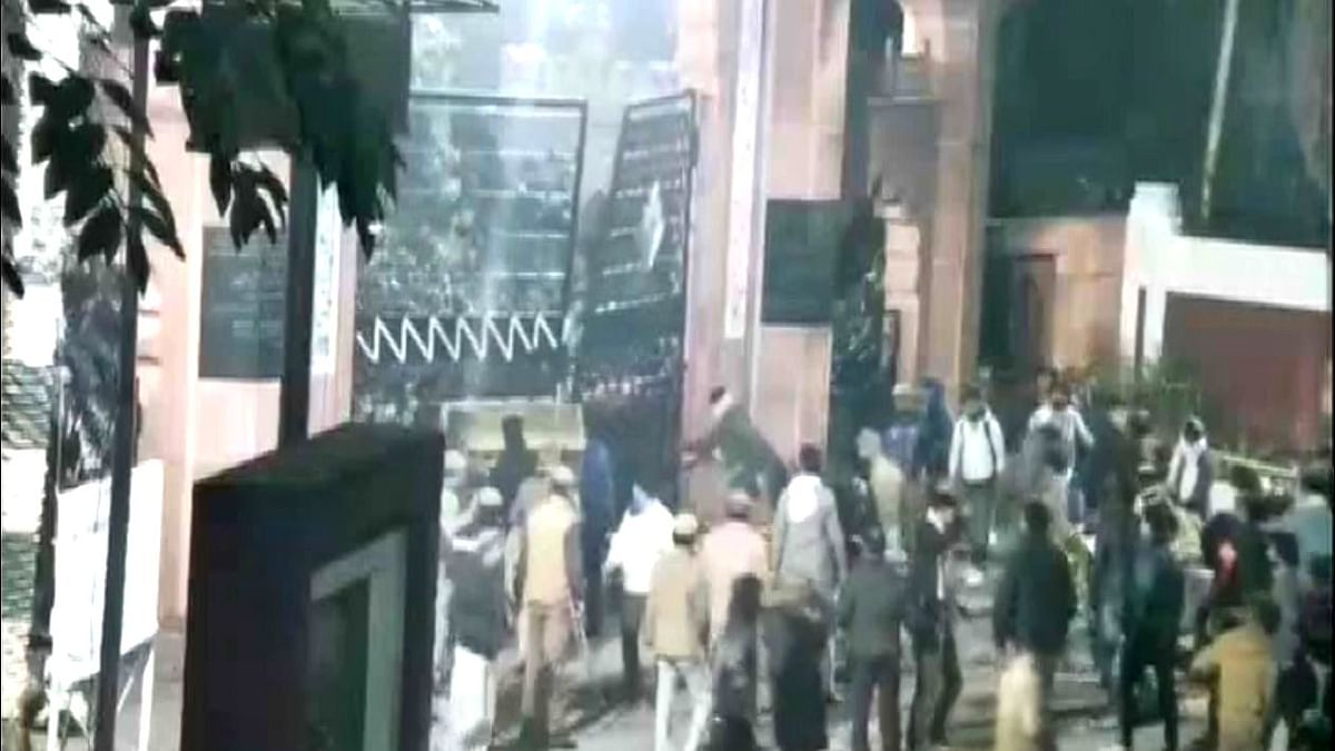 New CCTV Footage Shows Protesters Breaking Open AMU Gates