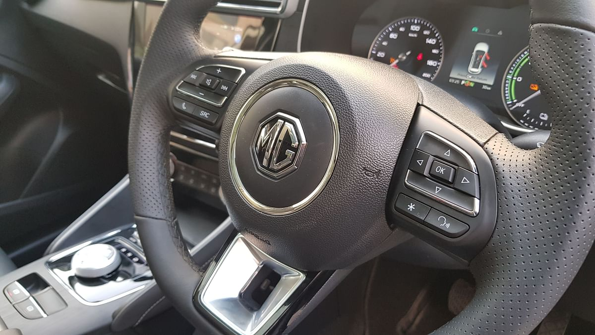 The MG ZS EV gets voice-activated commands and internet-connectivity just like the MG Hector.