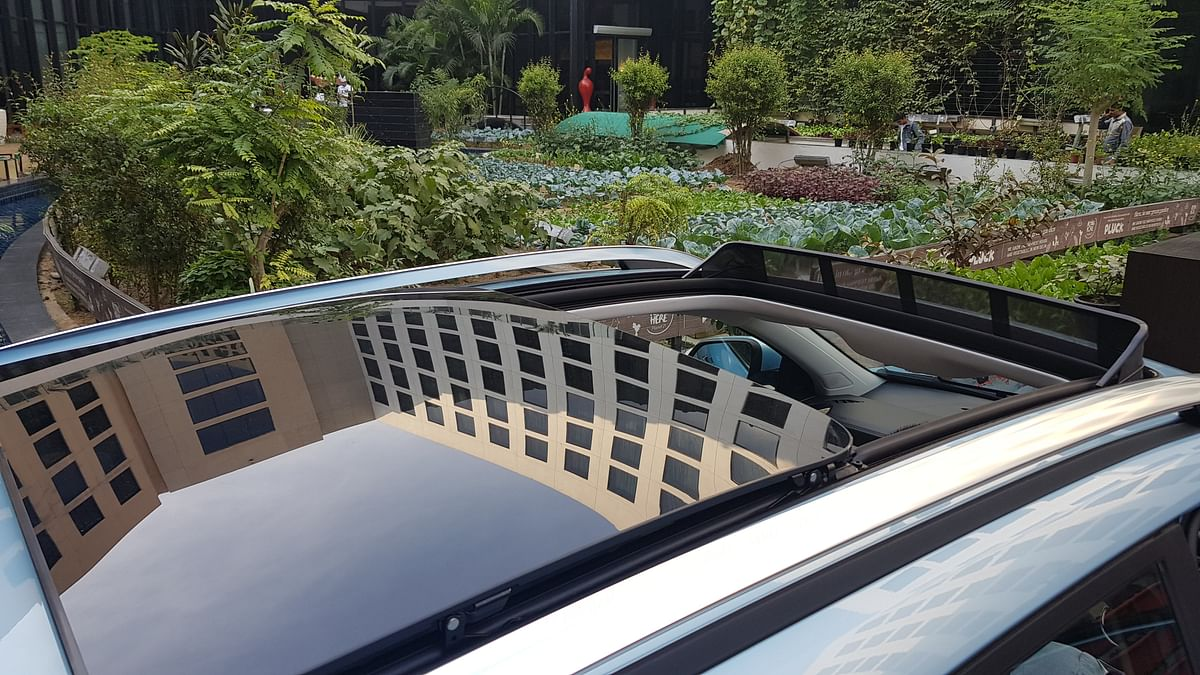 The MG ZS EV has a panoramic sun-roof that gives it an airy feel.