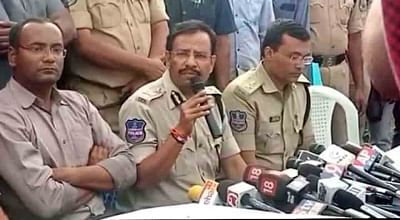 Shadnagar: Cyberabad Police Commissioner V. C. Sajjanar addresses a press conference after the police shot dead all the four accused in gang rape and murder of a young veterinarian in Hyderabad; in an alleged