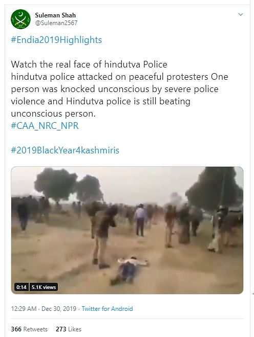 Old Unnao Video Shared as Police Brutality During CAA Protests