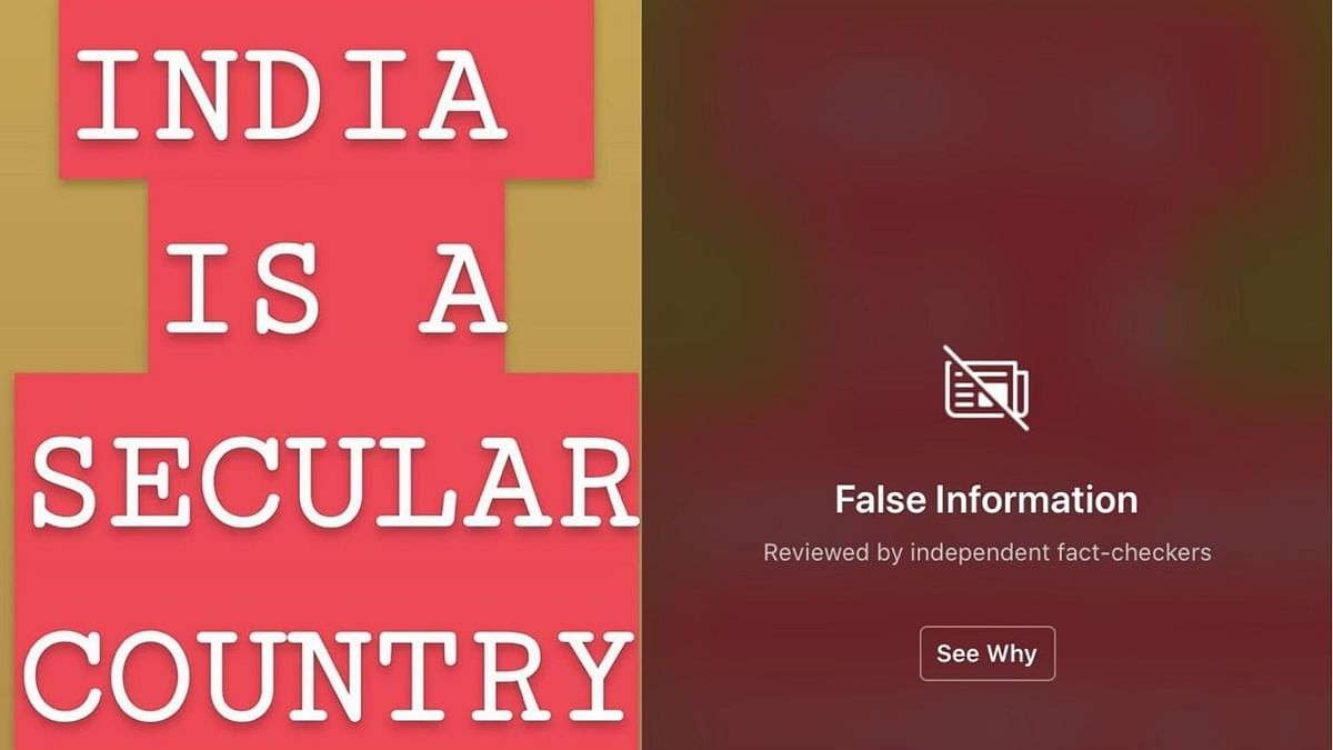 The post was hidden by an overlay after it was marked as 'fake' by two third-party fact-checkers.