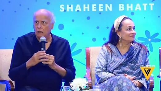 Mahesh Bhatt and Soni Razdan at daughter Shaheen's book launch.
