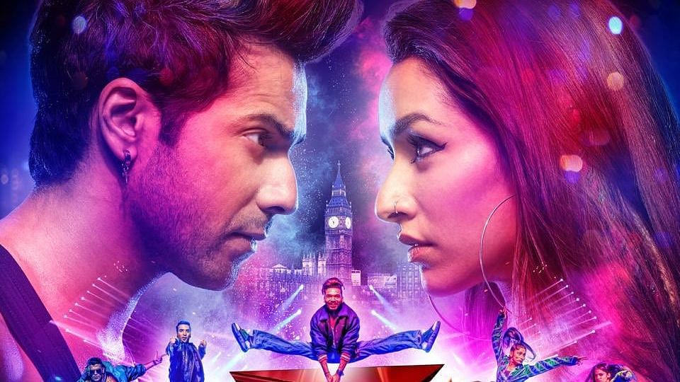 Varun Dhawan and Shraddha Kapoor in a poster from <i>Street Dancer 3D</i>.
