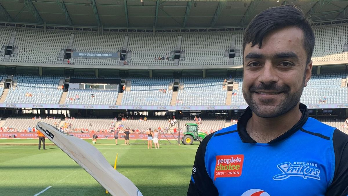 Afghanistan star Rashid Khan on Sunday flaunted a new bat design at the ongoing edition of the Big Bash League.