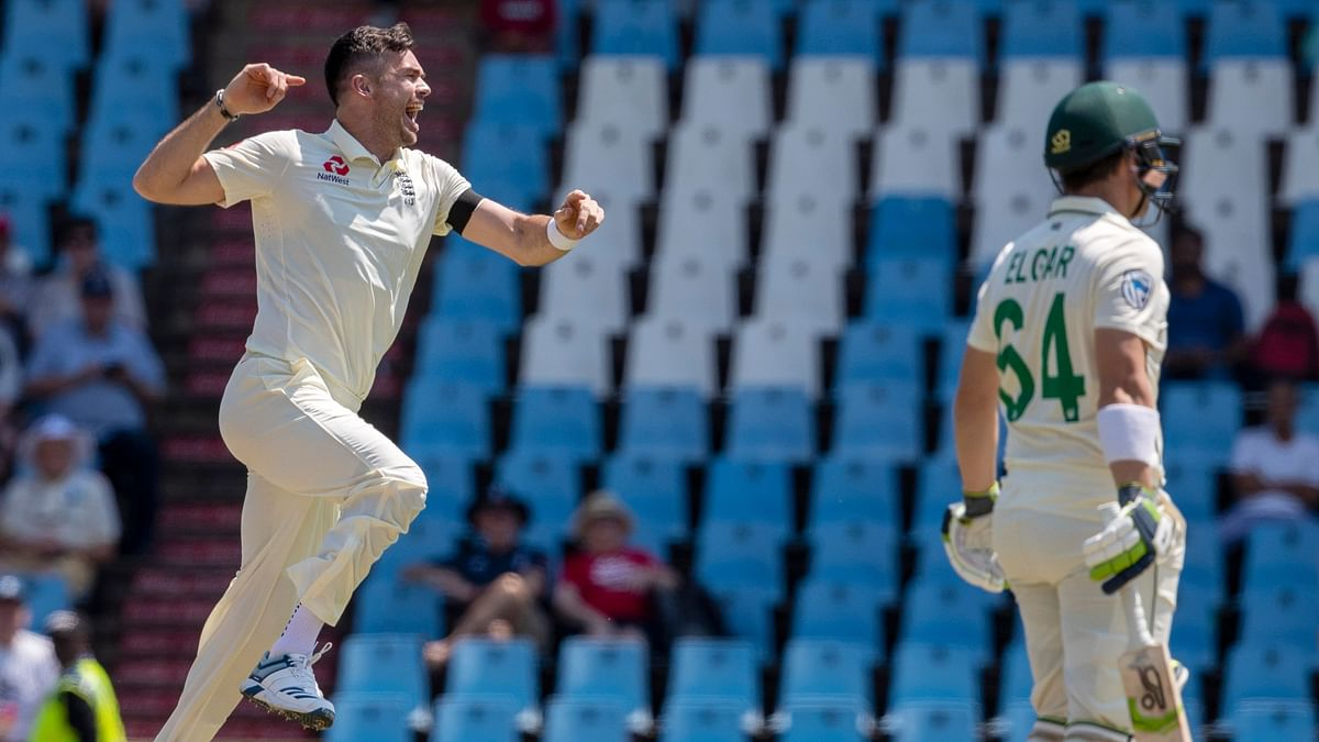 James Anderson made a terrific comeback as he scalped Dean Elgar with the very first ball he bowled.