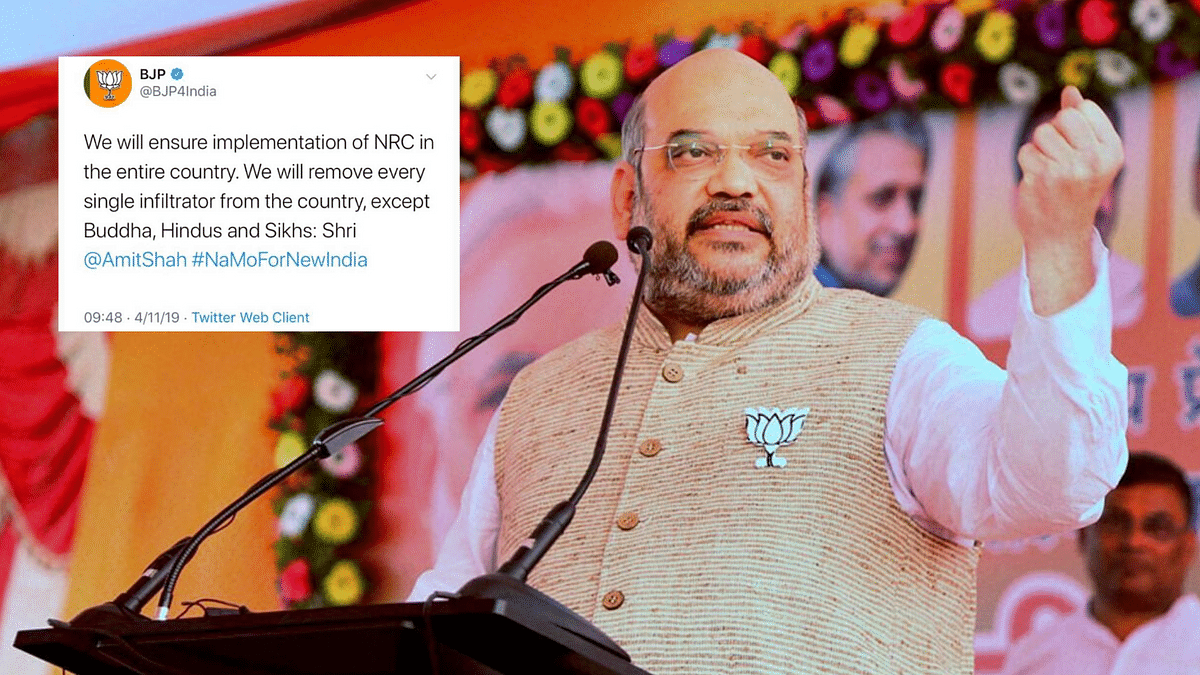 """The tweet said, """"We will remove every single infiltrator from the country, except Buddhists, Hindus and Sikhs."""""""
