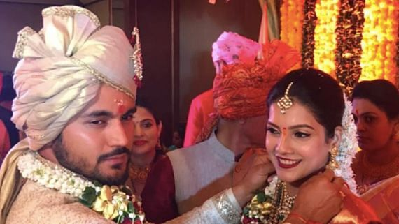Indian cricketer Manish Pandey and actor Ashrita Shetty tied the knot on Monday, 2 December.