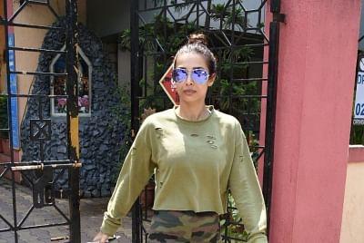 Mumbai: Actress Malaika Arora seen in Mumbai on Oct 4, 2019. (Photo: IANS)