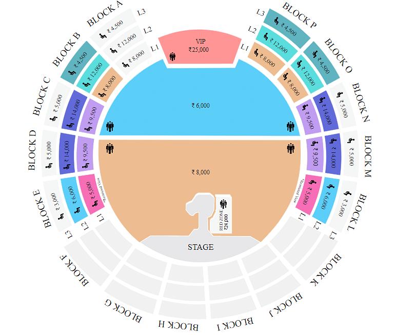 U2: The Joshua Tree Tour Concert tickets price list.