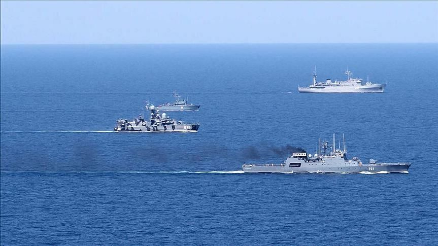 China, Russia and Iran began a 4-day joint naval drill on Friday.