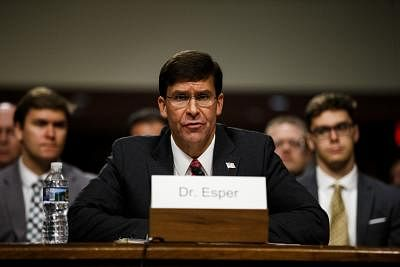 WASHINGTON, July 23, 2019 (Xinhua) -- The photo taken on July 16, 2019 shows U.S. Secretary of Defense nominee Mark Esper attending a Senate Armed Services Committee confirmation hearing on Capitol Hill in Washington D.C., the United States. The U.S. Senate on Tuesday voted to confirm Mark Esper as secretary of defense, ending a nearly seven-month period that the Pentagon has been without a permanent chief. (Photo by Ting Shen/Xinhua/IANS)