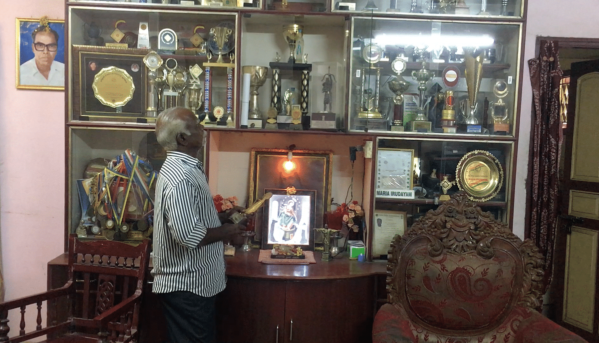 Maria's house is dotted with hundreds of medals and trophies.