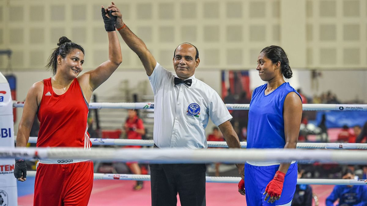 Pooja Rani defeated Indraja in an unanimous verdict in the 75kg category.