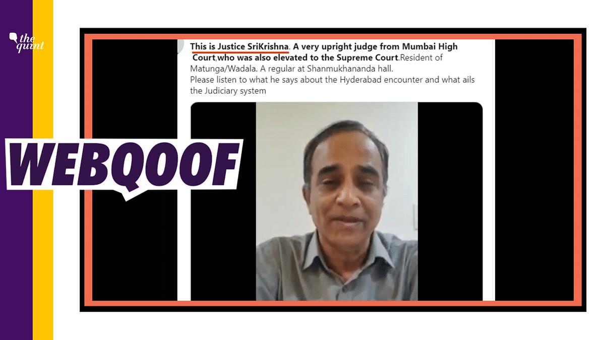 Man Lashing Out at Judiciary on Camera is Not Justice Srikrishna