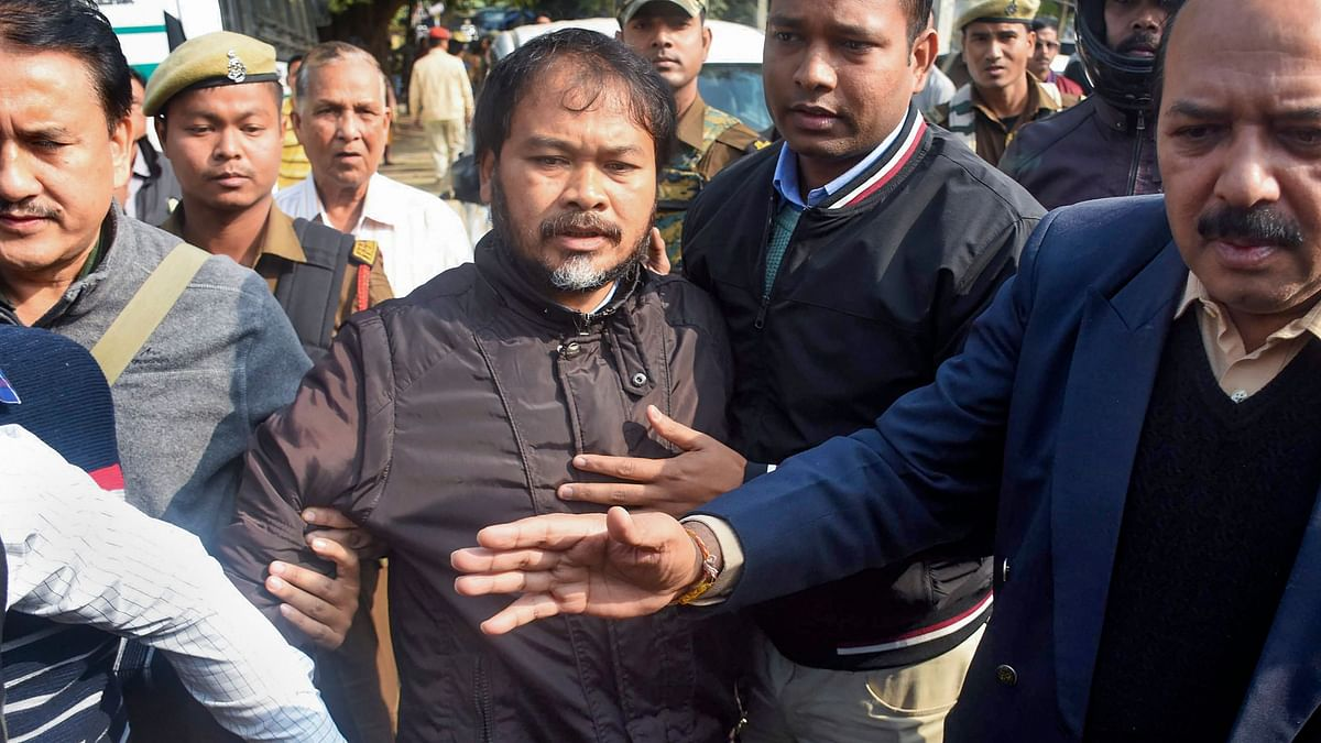 Assamese peasant leader and leader of the Krishak Mukti Sangram Samiti (KMSS), Akhil Gogoi.