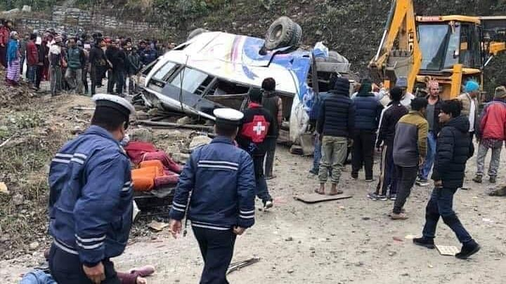 14 Killed in Bus Accident in Nepal, Overspeeding Suspected