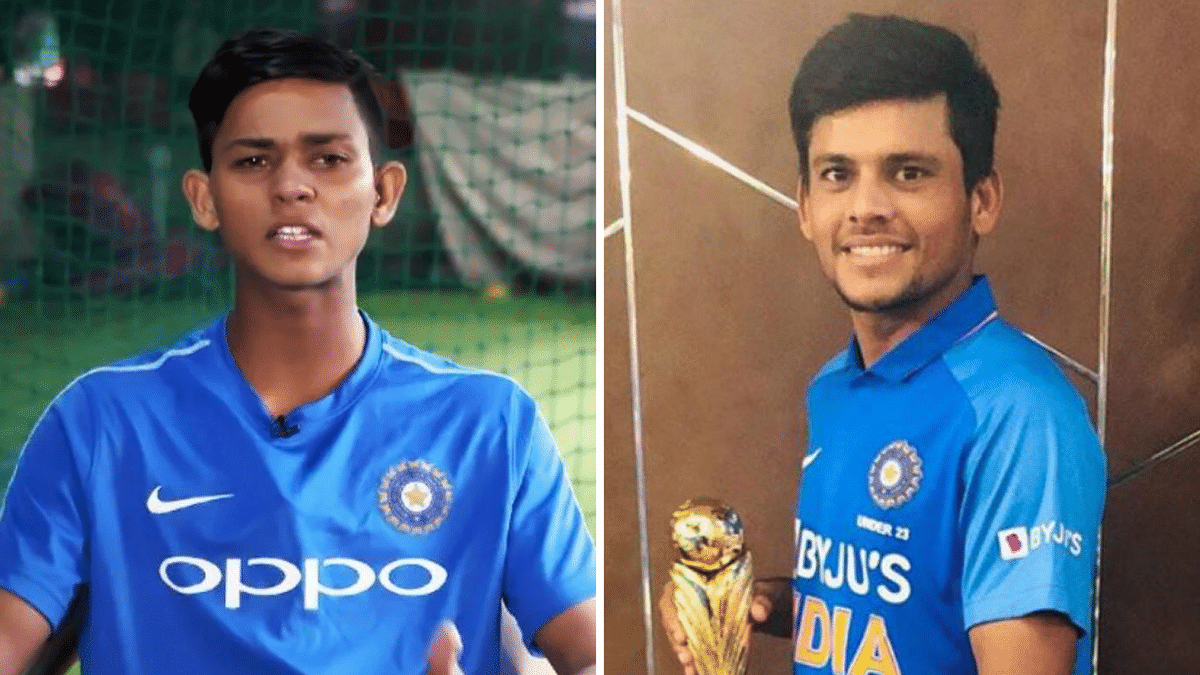 Youngest Players in IPL Auction 2020: Yashasvi Jaiswal (left) was picked up by Rajasthan Royals and Priyam Garg was bought by Sunrisers Hyderabad.