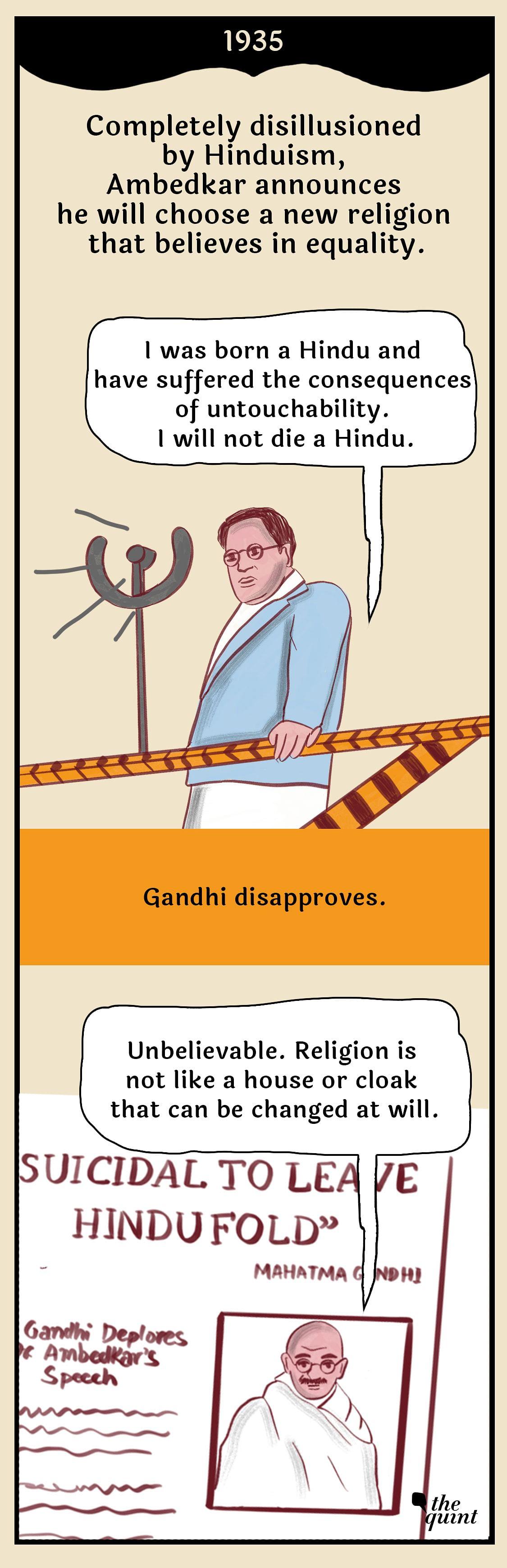 Graphic Novel:  Ambedkar's Discord With Gandhi Over Untouchability