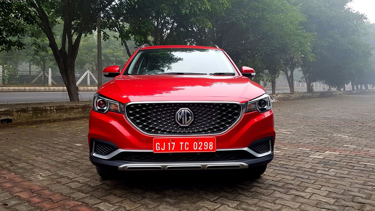 The charging port for the ZS EV is located behind the MG logo on the grille.