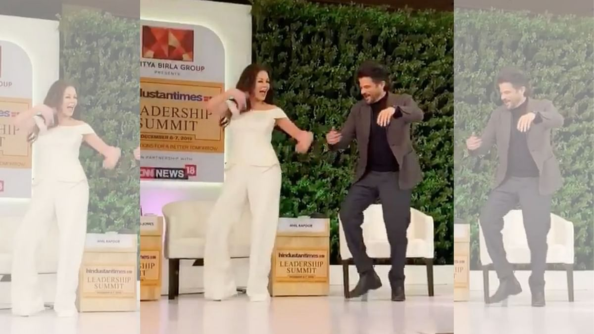 Catherine Zeta-Jones and Anil Kapoor shake a leg to the title song of <i>Om Shanti Om.</i>