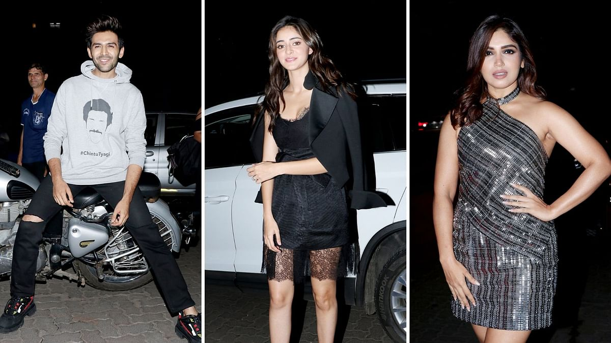 Pics: Kartik, Bhumi & Ananya Celebrate Pati Patni Aur Woh Success