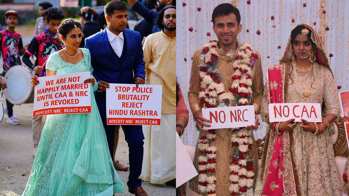 Here's How 2 Couples Protested Against CAA on Their Weddings!