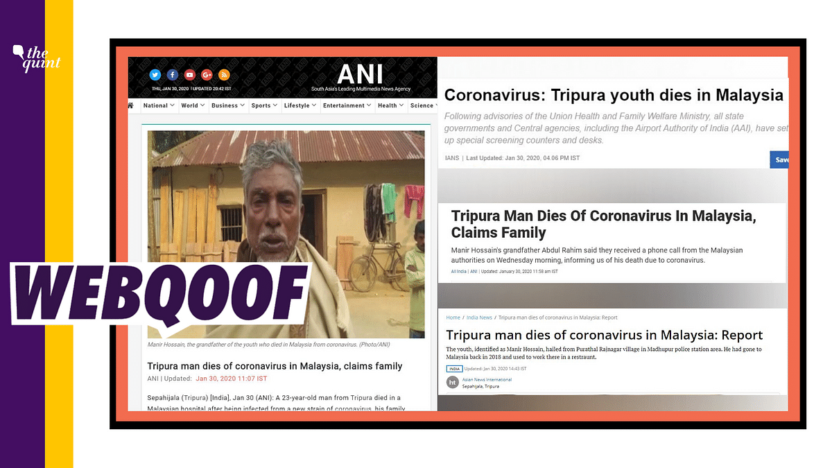 Fake Coronavirus Death News: Malaysian Govt Calls Out Indian Media
