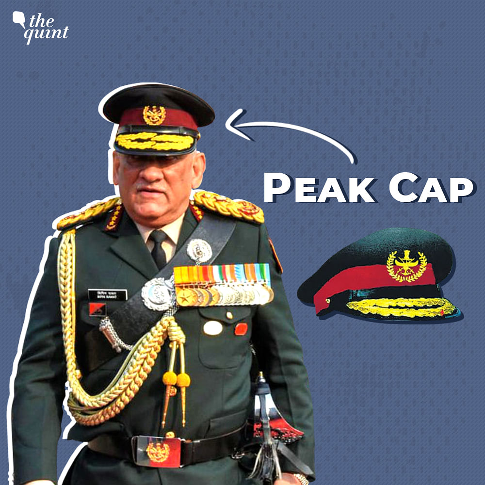 An updated peak cap bearing the official insignia.