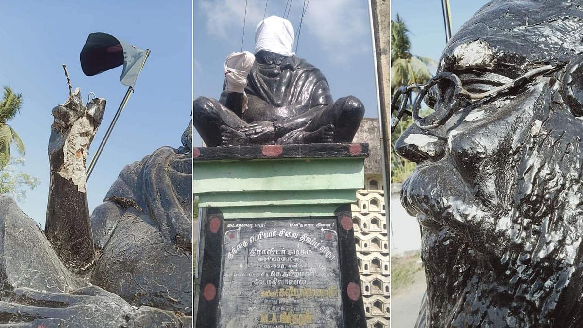Periyar Statue Vandalised Amid Protests Against Rajini's Remark