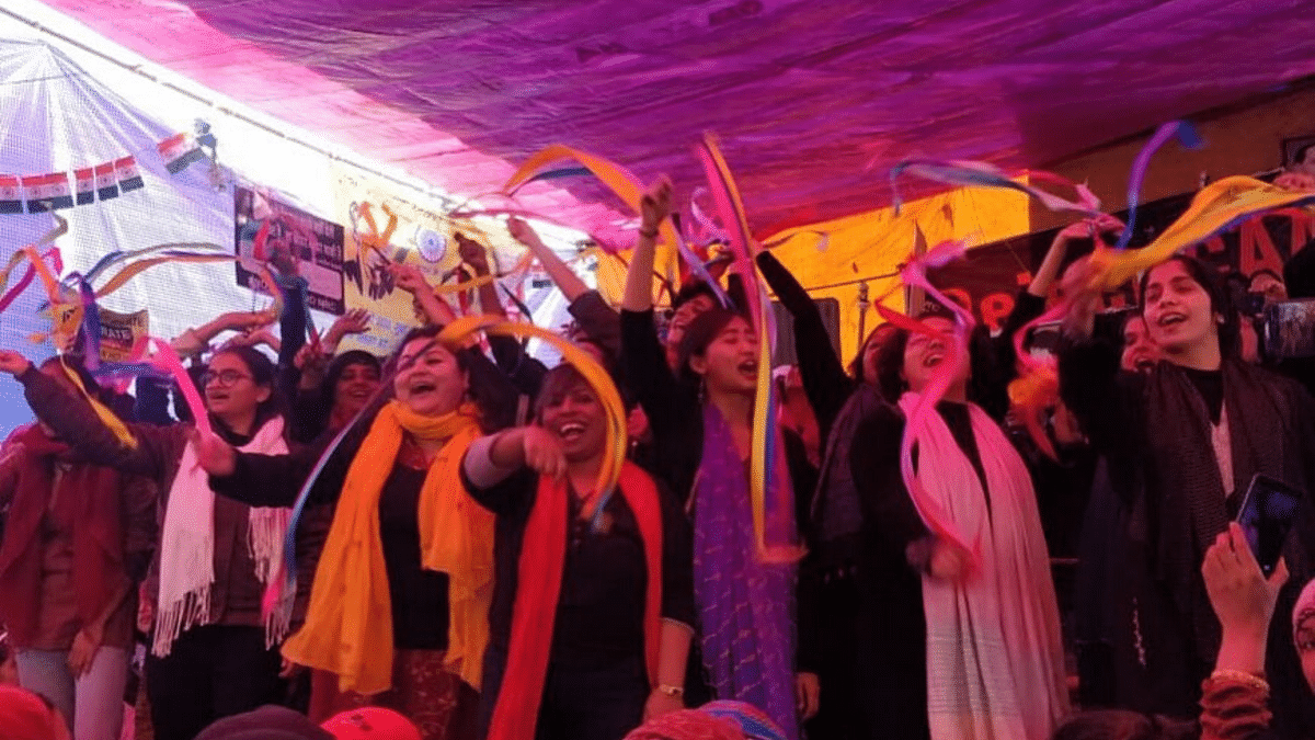 A musical protest at Shaheen Bagh by the crew of the 'Zanana Ensemble,' a group inclusive to gender-fluid and LGBTQ+ people, has gone viral on social media.