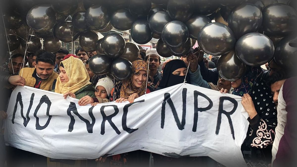 10,000 Balloons With Anti-CAA-NRC Banners Released at Khureji Khas