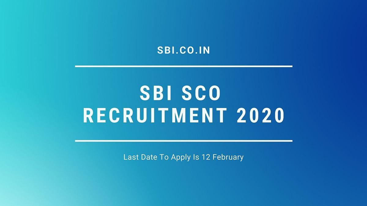 SBI SCO Recruitment 2020.