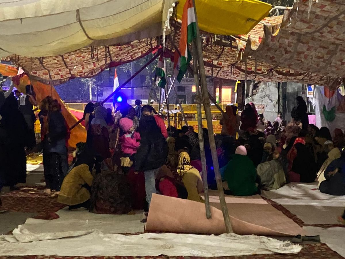 Women gather in Babarpur district, Delhi to protests against CAA-NRC-NPR.
