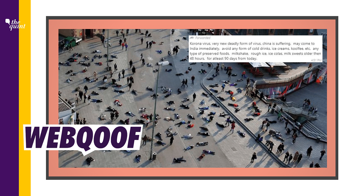 A photo of multiple people lying on a street is being shared — in the context of an outbreak of coronavirus in China and elsewhere — as the effect of the deadly virus.