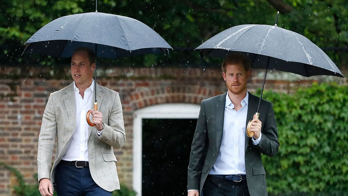 File photo of Prince William and Prince Harry.