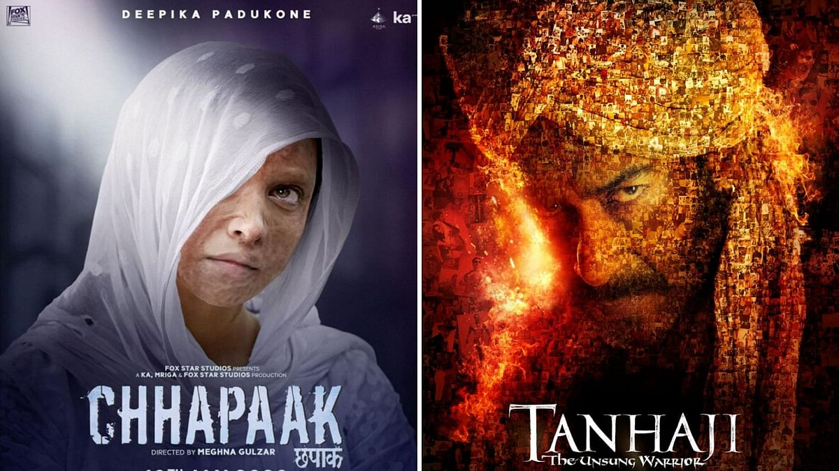 'Chhapaak' and 'Tanhaji: The Unsung Warrior' released on 10 January.